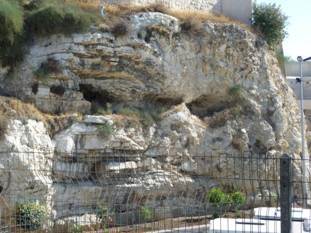 Der Felsen Golgotha in Jerusalem (Schädelstätte, Kreuzigung Jesu)