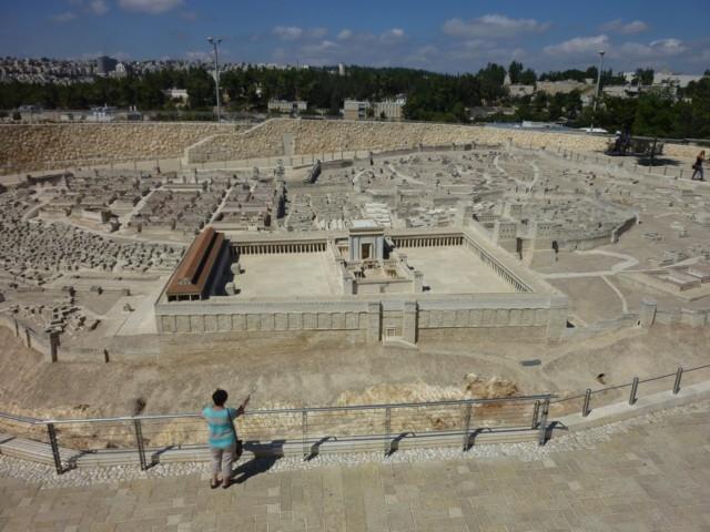 Jerusalem zur Zeit Jesu (Modell im Israel Museum)
