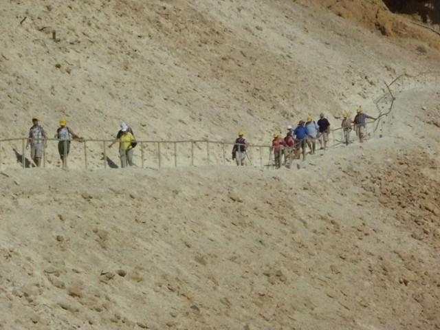 Abstieg von Masada (Römerrampe)